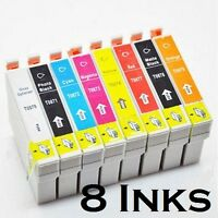 8 Compatible Ink Cartridges for EPSON STYLUS PHOTO R1900 1900 full set 870 9