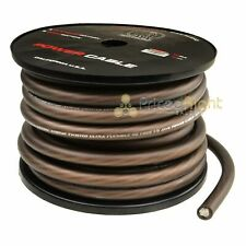 Pro Bullz Audio 1/0 Gauge 50 Ft Feet Power Wire Ground Cable Twisted Audio Black