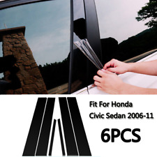 Fit for Honda Civic 2006-11 Mirror effect Window Pillar Posts Cover Trim 6PCS