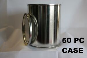 50 EMPTY PINT METAL PAINT CAN WITH LIDS (50 CANS & 50 LIDS) CASE WHOLESALE