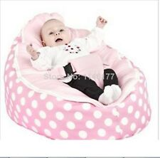 Hot Sale! Pink Infant Bean Bag Soft Sleeping Bag Portable Seat Without Filling