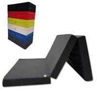 "4"" Inches TriFold Tri Folding Foam Bed Floor Foam Ottoman Mattress Mat GRAY"