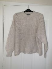 Ladies Chunky Knit Pretty Jumper Size 12-14 M