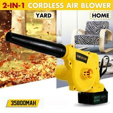 2 in 1 Handheld Blower Vacuum Mulcher Cordless Electric Air Speed Powerful Home