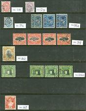 Tonga 1886-1970 Mint Y Usado selección en 5 doble cara stockcards. bonita limpia..