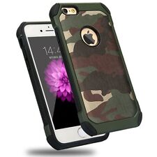 iPhone SE Army Green Shockproof Drop Protective Case Military Guard Camo Cover