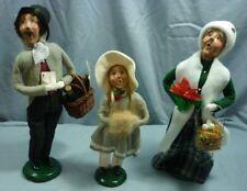 "Byers Choice Ltd. ""The Carolers"" Lot of 3 Figurines Man, Girl & Lady 2000 18I011"
