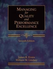 Managing for Quality and Performance Excellence (with CD-ROM), Evans, James R.,