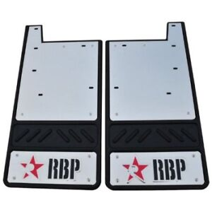 Mud Flap Set RBP 757080-SS 12.5'' Offset 5/8'' GM Front Stainless