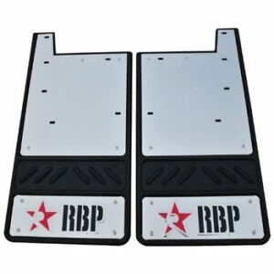 Mud Flap Set RBP 757077 12.5'' Offset 5/8'' Dodge 1500 w/ flare w/ liner, Black