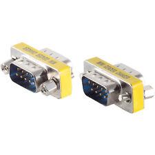 Gender Changer D-Sub 9 pol. Stecker auf 9 pol Stecker RS232 Kupplung SUB-D