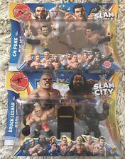 WWE Slam City Figures Lesnar Vs Henry & CM Punk Vs Miz