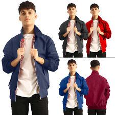 New Mens Vintage Classic Retro Harrington Bomber Trendy Jacket Size S M L XL XXL