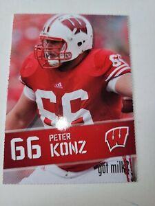 Peter Konz  # 66 Wisconsin Badgers Sports Card Wisconsin Badgers