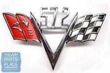 Universal Chevrolet 572 Cross Flag Emblem