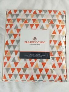 Happy Chic Jonathan Adler Sheet Set Queen Orange White Gray Geometric