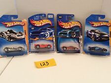 Lot of 4 Mixed Hot Wheels#123 Swoopy Do, Scorcher,Teegray, Monoposto
