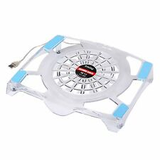 Frisby Cooling Fan USB Blue LED Light Laptop Notebook Quiet Cooler Pad 10 t