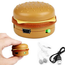 Mini Hamburger MP3 Player USB Music Support 32GB Micro TF SD Card With Earphone