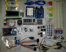 Starter Kit for Arduino w/ UNO R3, Breadboard, Wires, LCD, LEDs, Motors, Remote
