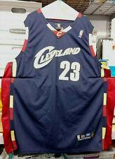 AUTHENTIC REEBOK CLEVELAND CAVALIERS LEBRON JAMES #23 NBA JERSEY BLUE RARE*