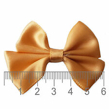 10pcs 6cm Satin Bows Applique DIY Craft Embellishments Wedding Scrapbooking Card