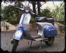 Bajaj Chetak 150 00 01 A4 Metal Sign Motorbike Vintage Aged