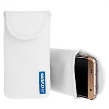 Caseflex htc desire 10 pro case best néoprène pochette couverture de peau-blanc