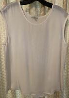 Blouse By Joie Size Medium 100% Silk Cream Sleeveless EUC Tank Top