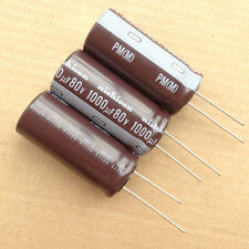 1lot/16PCS Nichicon PM 80V 1000uF 105c electrolytic capacitors For Caps Power #2