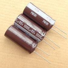 1lot/8PCS Nichicon PM 80V 1000uF 105c electrolytic capacitors For Caps Power