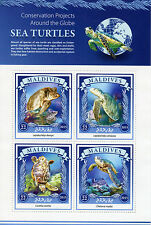 Maldives 2015 neuf sans charnière tortues de mer projets de conservation 4v ms reptiles marins timbres