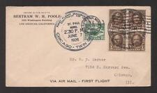 JAP R96 Cover used USA 1926 Air Mail First Flight Chicago - Twin Cities