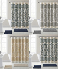 French Chateau Paisley Chic Premium Fabric Shower Curtain - Assorted Colors
