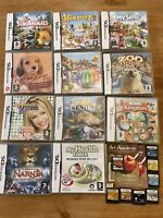 Nintendo DS Games Bundle Boxed Hop Zoo Tycoon My Sims Narnia SH23