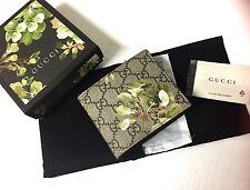 GUCCI MEN'S Beige/ebony GG Blooms Floral Coated Canvas Wallet 408666 8966