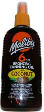 1x MALIBU FACTOR 6 WATER RESISTANT DRY OIL SPRAY SUN TAN  TANNING LOTION UVA UVB