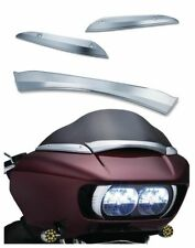 Kuryakyn Chrome Center + Side Trim Package Windshield Harley Road Glide FLTRU