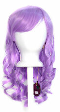 20'' Layered Loose Curly Cut w/ Long Bangs Lavender Purple Cosplay Wig NEW