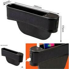 Car-styling Accessories Car Seat Seam Storage Box Drivers Side With 4 USB Ports