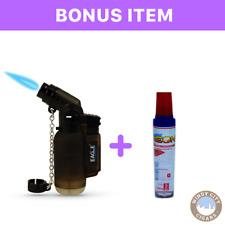 Angle Eagle Jet Flame Torch Lighter (Black) Free Butane