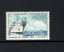 France 1960 SHIP LAYING UNDERWATER CABLE MNH SC B339