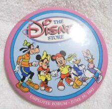 Disney Store Employee Forum 1992 Button Pin