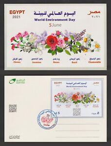 Egypt - 2021 - RARE - Limited Edition - ( Maximum Card - World Environment Day )