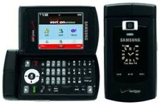 Samsung Alias Verizon SCH-U740 Dual Flip Cell Phone BLACK Keyboard Compact CDMA