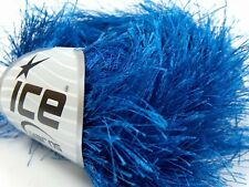 38Yds Royal Blue Extra Long Eyelash Yarn #14155 Ice Luxurious Solid Fun Fur 50gr