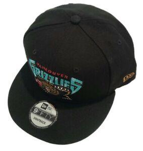 Men's New Era Black Vancouver Grizzlies HWC Nights Adjustable Snapback Hat Cap