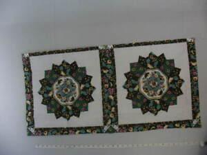 """Two Pillow Panel,""""Salem Star Brown & Green"""",35 1/2"""" x 17 1/2"""",Cotton Blend Mater"""