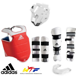 adidas WTF approved Taekwondo Set TKD Sparring Gear Protector