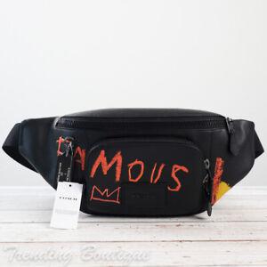 NWT Coach C5424 Coach X Jean-Michel Basquiat Track Belt Bag In Leather